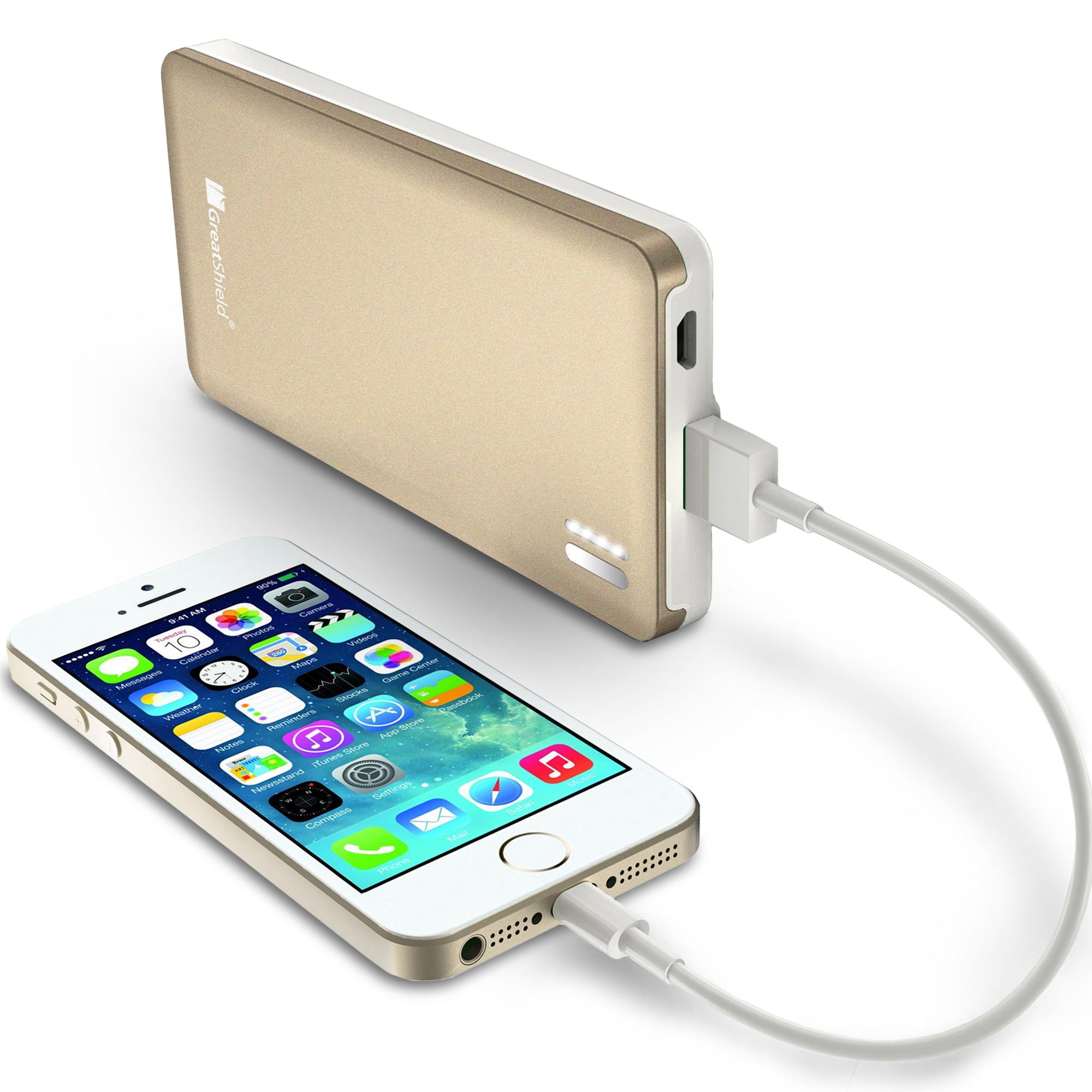 GreatShield 7000mAh PowerSleek Portable Battery Charger - Titanium  Gray/White - GreatShield