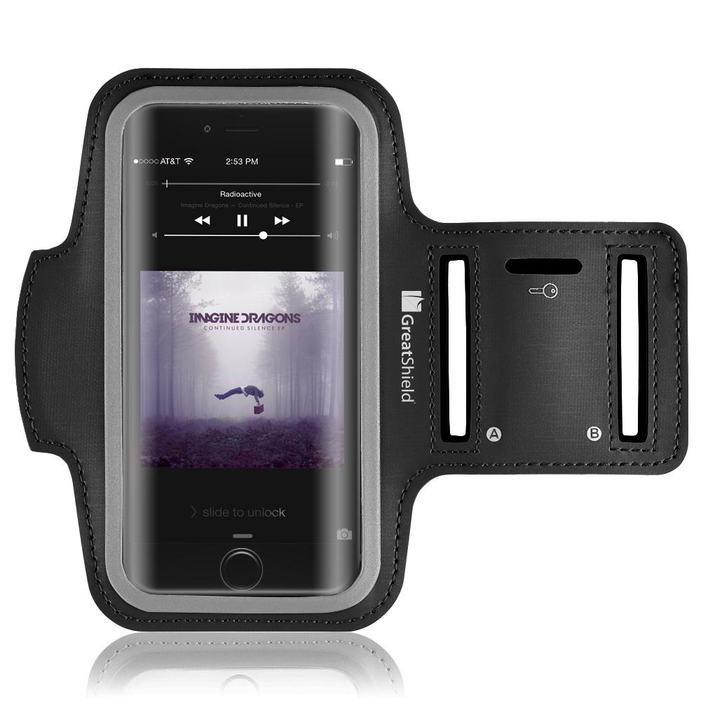 fit stretchable neoprene sport armband for apple iphone 7 4 7 greatshield. Black Bedroom Furniture Sets. Home Design Ideas